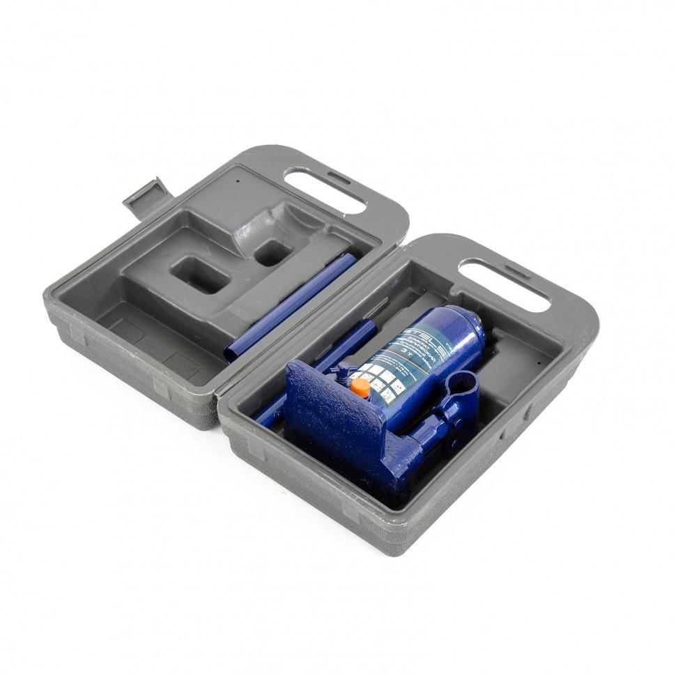 Домкрат гидравлический бутылочный 3 т подъем 178-343 мм пластиковый кейс STELS 51125, фото , изображение 3 - Метэкс