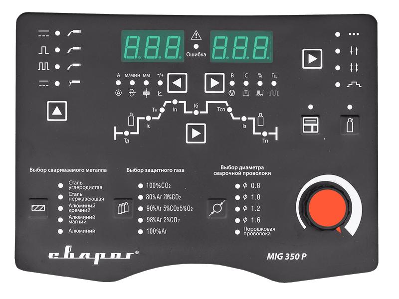 Сварочный инвертор TECH MIG 350 P (N316), фото , изображение 3 - Метэкс