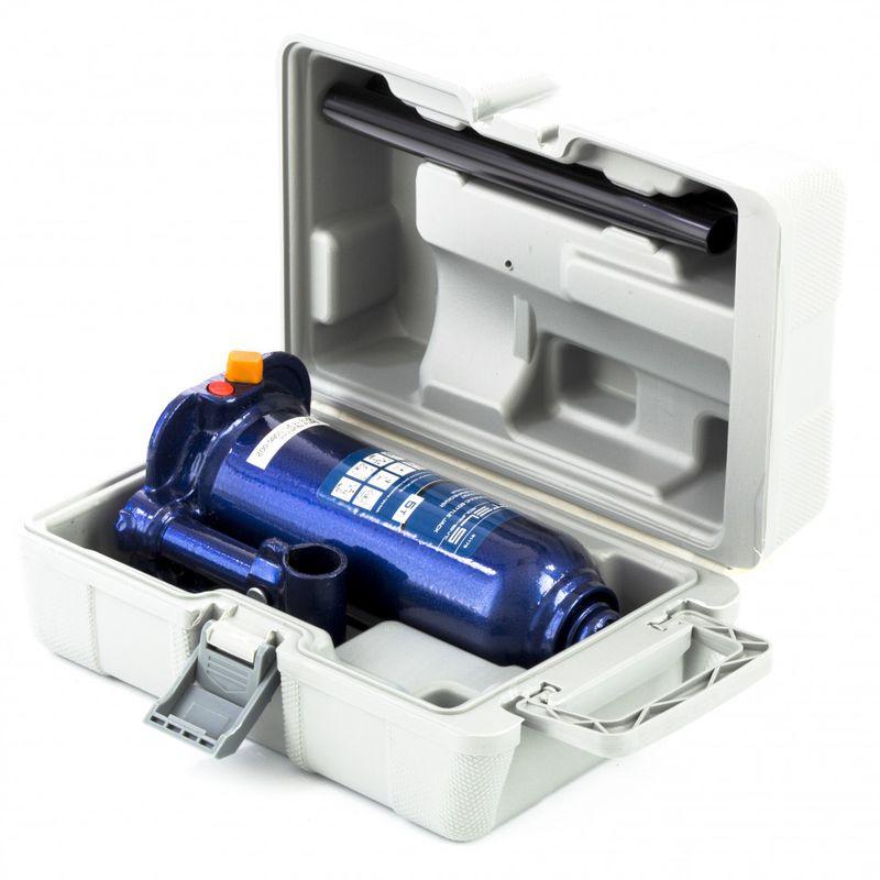 Домкрат гидравлический бутылочный 5 т подъем 207-404 мм пластиковый кейс STELS 51175, фото , изображение 2 - Метэкс