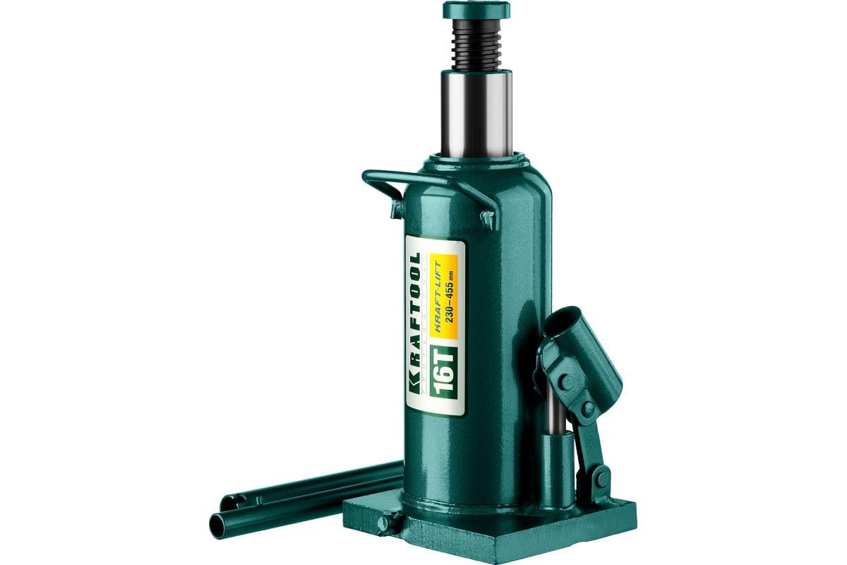 Домкрат гидравлический бутылочный 16 т подъем 230-455 мм Kraft-Lift KRAFTOOL 43462-16_z01, фото - Метэкс