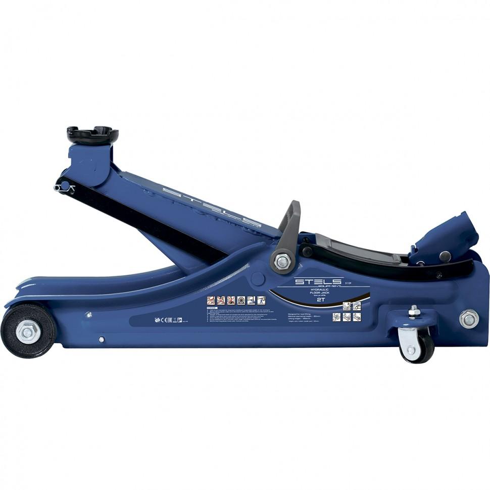Домкрат гидравлический подкатной 2 т подъем 80-380 мм STELS 51129, фото - Метэкс