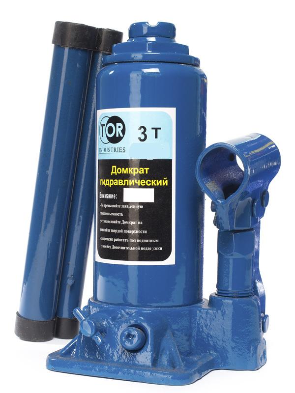 Домкрат гидравлический бутылочный 3 т подъем 180-365 мм (пл. кейс) TOR 1006113, фото  - Метэкс