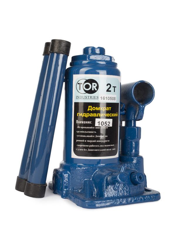 Домкрат гидравлический бутылочный 2 т подъем 150-290 мм TOR 1052, фото - Метэкс