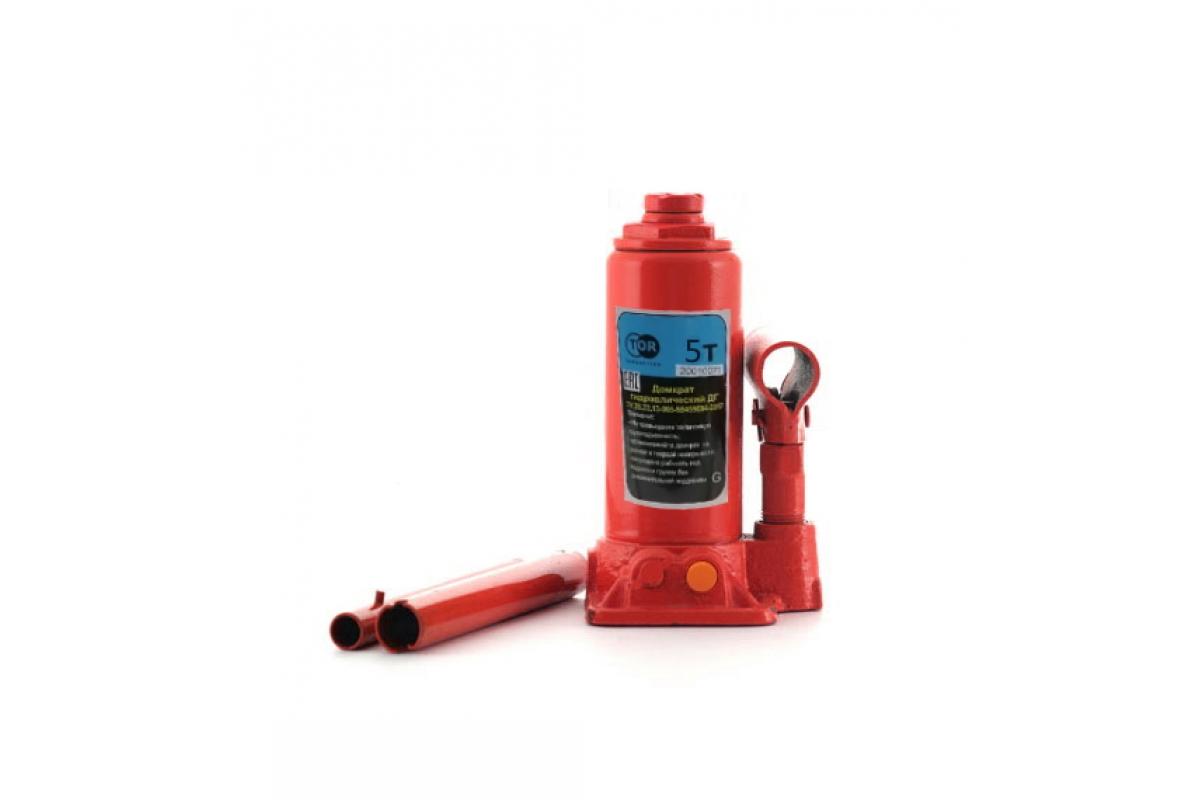 Домкрат гидравлический бутылочный 5 т подъем 197-382 мм TOR 1003450, фото - Метэкс
