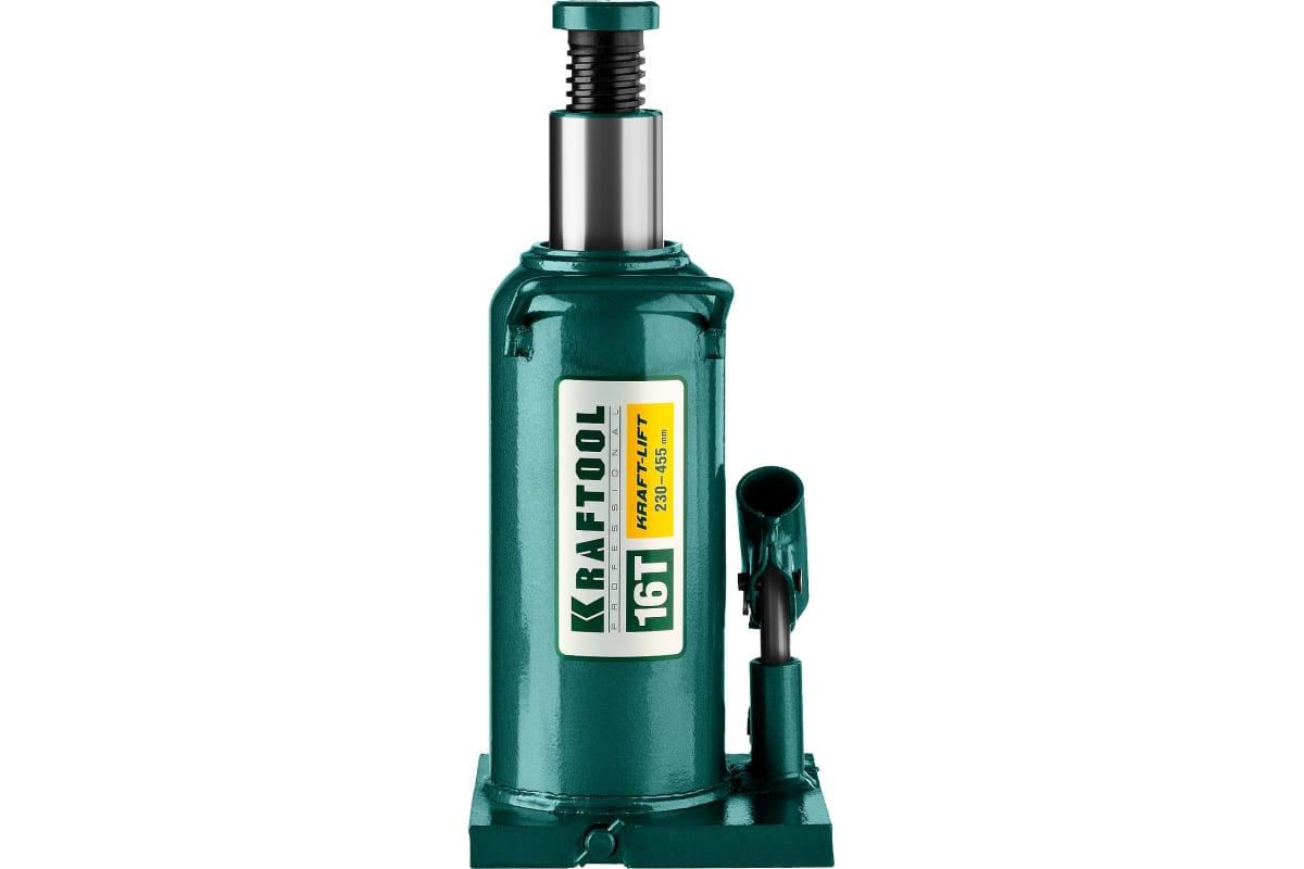 Домкрат гидравлический бутылочный 16 т подъем 230-455 мм Kraft-Lift KRAFTOOL 43462-16_z01, фото , изображение 2 - Метэкс