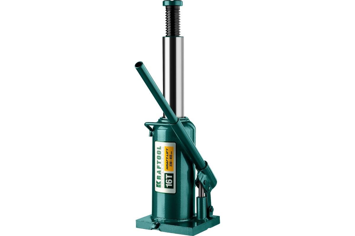 Домкрат гидравлический бутылочный 16 т подъем 230-455 мм Kraft-Lift KRAFTOOL 43462-16_z01, фото , изображение 3 - Метэкс