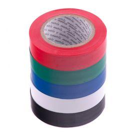 Набор изолент ПВХ цветных 15 мм х 10 м в упаковке 5 шт 150 мкм Matrix, фото  - Метэкс