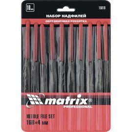 Набор надфилей 160 х 4 мм 10 шт обрезиненные рукоятки MATRIX 15818, фото  - Метэкс