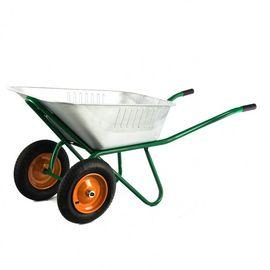 Тачка двухколесная грузоподъемность 320 кг объем 100 л садово-строительная усиленная Сибртех, фото , изображение 3 - Метэкс