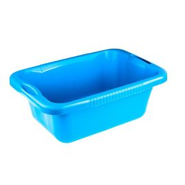 Таз пластмассовый прямоугольный 24 л голубой ELFE 92992, фото  - Метэкс