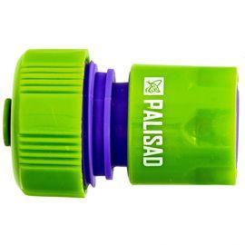 Соединитель пластмассовый быстросъемный для шланга 3/4 аквастоп PALISAD 66165, фото - Метэкс