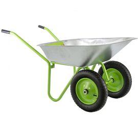 Тачка двухколесная грузоподъемность 100 кг объем 90 л садовая облегченная Сибртех, фото - Метэкс