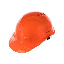 Каска защитная из ударопрочной пластмассы оранжевая СИБРТЕХ 89113, фото  - Метэкс