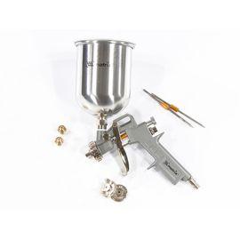 Краскораспылитель пневматический с верхним бачком V 1, 0 л сопло D 1.2, 1.5 и 1.8 мм MATRIX 57315, фото  - Метэкс