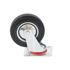 Колесо поворотное d-125мм, крепление платформенное, фото - Метэкс