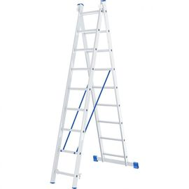 Лестница 2 х 9 ступеней алюминиевая двухсекционная длина 4,2 м СИБРТЕХ 97909, фото  - Метэкс