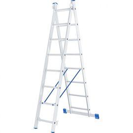 Лестница 2 х 8 ступеней алюминиевая двухсекционная длина 3,64 м СИБРТЕХ 97908, фото  - Метэкс