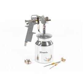 Краскораспылитель пневматический с нижним бачком V 1, 0 л сопло D 1.2, 1.5 и 1.8 мм MATRIX 57316, фото  - Метэкс