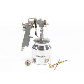 Краскораспылитель пневматический с нижним бачком V 0,75 л сопло D 1.2, 1.5 и 1.8 мм Matrix, фото  - Метэкс