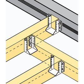 Опора бруса закрытая 100х140х76 2,0мм, фото , изображение 3 - Метэкс