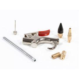 Набор продувочный пистолет пневмат в комплекте с насадками 6 шт Matrix, фото , изображение 3 - Метэкс
