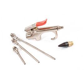 Набор продувочный пистолет пневмат в комплекте с насадками 4 шт Matrix, фото , изображение 2 - Метэкс