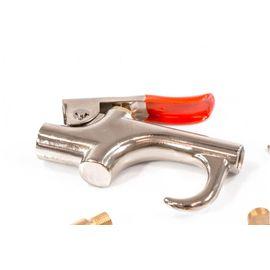 Набор продувочный пистолет пневмат в комплекте с насадками 4 шт Matrix, фото , изображение 3 - Метэкс