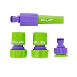 Набор для подключения шланга 3/4 распылитель 3 адаптера к распылителю PALISAD 65179, фото - Метэкс