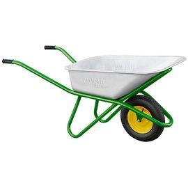 Тачка одноколесная грузоподъемность 200 кг объем 90 л садово-строительная усиленная, фото - Метэкс