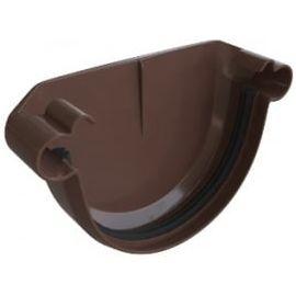 Заглушка желоба ПВХ шоколад (50), фото  - Метэкс