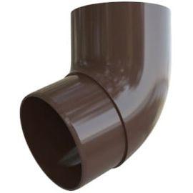 Колено трубы 67 ПВХ шоколад (16), фото  - Метэкс