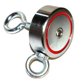 Магнит поисковый двусторонний F=120 кг Х2, фото  - Метэкс