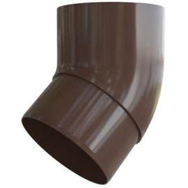Колено трубы 45 ПВХ шоколад (36), фото  - Метэкс