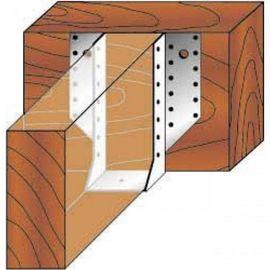 Опора бруса раскрытая OBR-R 50х195х76 2,0мм, фото , изображение 3 - Метэкс