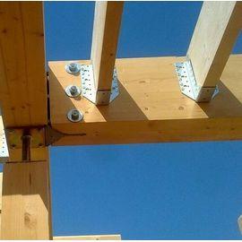 Опора бруса раскрытая OBR-R 100х140х76 2,0 мм, фото , изображение 4 - Метэкс