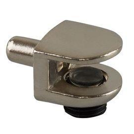 Полкодержатель для стекл полок PD GLA с фикс никель, фото  - Метэкс