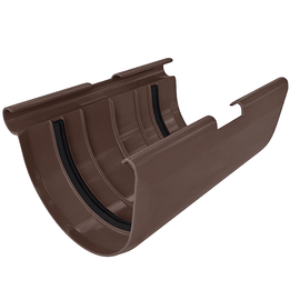 Муфта желоба ПВХ шоколад (12), фото  - Метэкс