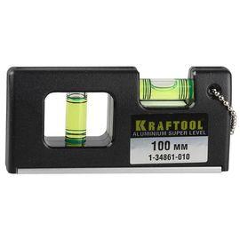 Уровень с магнитом 100 мм KRAFTOOL МИНИ 1-34861-010, фото  - Метэкс