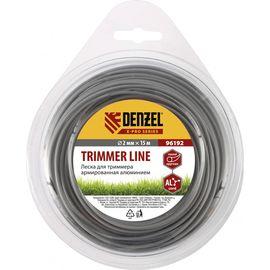 Леска для триммера армированная алюминием круглая 2,0 мм х 15 м Denzel 96192, фото  - Метэкс