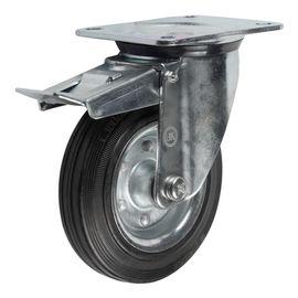 SRCb42 (43) Ролик поворотный с тормозом диам. 100 мм (88 кг), фото - Метэкс