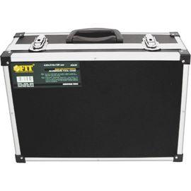 Ящик для инструмента алюминиевый (43х31х13) черный FIT 65630, фото  - Метэкс