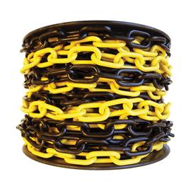 Цепь пластиковая 6 мм (черно-желтая) на катушке 20 м, фото  - Метэкс
