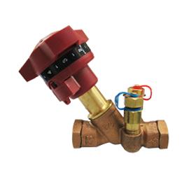 Балансировочный клапан с изм. ниппелями Ду 15 ручной, фото  - Метэкс