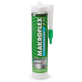 Герметик MAKROFLEX SX101 силиконовый санитарный бесцветный 290мл, фото - Метэкс