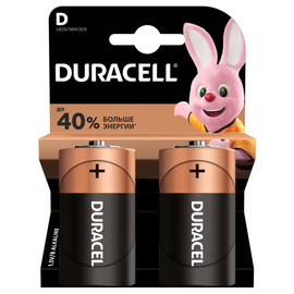 Батарейка DURACELL Basic D (2 шт), фото  - Метэкс