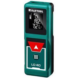 Дальномер лазерный LD-40 KRAFTOOL дальность 5см - 40м,точность 1,5мм, фото  - Метэкс