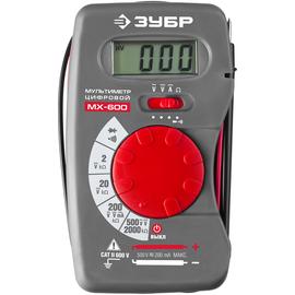 Мультиметр цифровой МХ-600 ЗУБР 59800, фото  - Метэкс