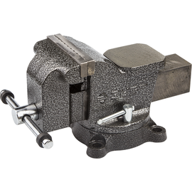 Тиски слесарные 100 мм с поворотным механизмом ЗУБР 3258-100, фото  - Метэкс