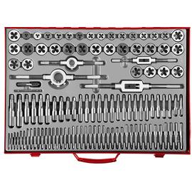 Набор метчиков и плашек 110 предметов 9ХС ЗУБР 28119-Н110_z01, фото  - Метэкс