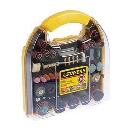 Набор насадок для гравера 186 предметов пластиковый кейс STAYER 29900-H186, фото  - Метэкс